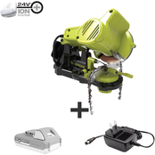 Sun Joe 24V Cordless ChainSaw Sharpener with 2.0 Ah Battery + Charger