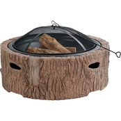 Martha Stewart Collection 35 in. Cast Stone Base Wood Burning Fire Pit