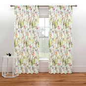 Royale Linens Arboretum Window Panel Pair 48 x 84 in.
