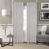 Royale Linens Hexagon Window Panel Pair 42 x 84 in.