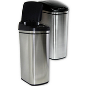 Nine Stars 11.2 gal. Infrared Trash Can with Liner Ring