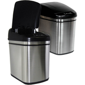 Nine Stars 6 gal. Infrared Trash Can with Liner Ring