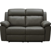 Abbyson Paxton Top Grain Leather Reclining Sofa and Loveseat