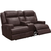 Abbyson Edmond Leather Power Reclining Loveseat
