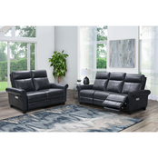 Abbyson Emmerson Power Reclining Sofa and Loveseat