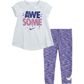 Nike Little Girls Crossdye Top & Leggings 2 pc. Set