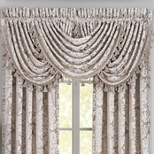 J. Queen New York Bel Air Silver Window Waterfall Valance