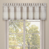 J. Queen New York Lauralynn Beige Window Straight Valance