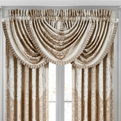 J. Queen New York La Scala Gold Window Waterfall Valance