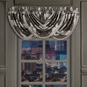 J. Queen New York Desiree Silver Window Waterfall Valance