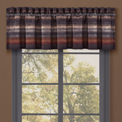 J. Queen New York Mesa Chocolate Window Straight Valance