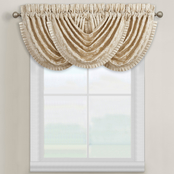 J. Queen New York Blossom Ivory Window Waterfall Valance