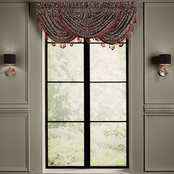 J. Queen New York Taormina Red Window Waterfall Valance