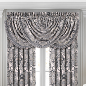 J. Queen New York Guiliana Silver Window Waterfall Valance