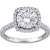 Sofia B. 10K White Gold 2 1/2 CTW Moissanite Halo Engagement Ring