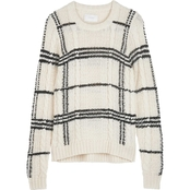 Lucky Brand Oversized Plaid Cable Sweater