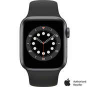 Apple Watch Series 6 GPS + Cellular Space Gray Aluminum Case with Black Sport Band