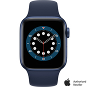 Apple Watch Series 6 GPS Blue Aluminum Case with Deep Navy Sport Band