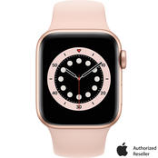 Apple Watch Series 6 GPS Gold Aluminum Case with Pink Sand Sport Band