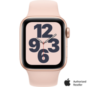 Apple Watch SE GPS + Cellular 40mm Gold Aluminum Case with Pink Sand Sport Band