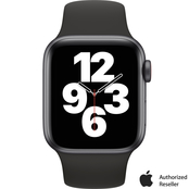 Apple Watch SE GPS + Cellular 40mm Space Gray Aluminum Case Black Sport Band
