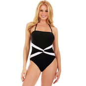 InstantFigure Contrast Twist Front 1 pc. Swimsuit