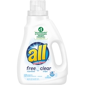 all 46.5 oz. Ultra Free Clear High Efficiency Liquid Laundry Detergent