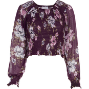Lily White Juniors Gabby Printed Top