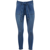 JW High Waist Self Tie Ankle Jeans