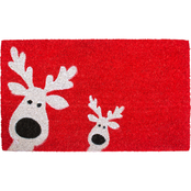 Callowaymills Peeking Reindeer 17 x 29 in. Doormat