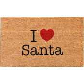 Callowaymills Love Santa 17 x 29 in. Doormat