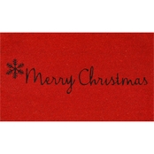 Callowaymills Red Merry Christmas Doormat