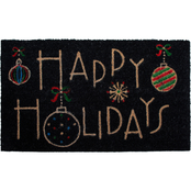 Callowaymills Happy Holidays 17 x 29 in. Doormat