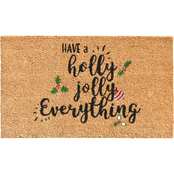 Callowaymills Holly Jolly 17 x 29 in. Doormat
