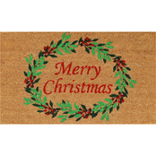 Callowaymills Christmas Wreath 17 x 29 in. Doormat