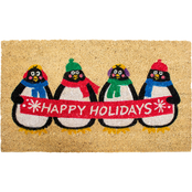Callowaymills Holiday Penguins 17 x 29 in. Doormat