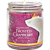 Bath & Body Works Frosted Fable Frosted Cranberry Single Wick Candle
