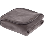 Vellux Heavy Weight 15 lb. Weighted Charcoal Grey Throw