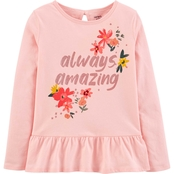 Carter's Little Girls Always Amazing Jersey Peplum Tee