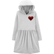 Carter's Little Girls Heart Hooded Jersey Dress