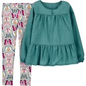 Carter's Little Girls Sateen Top and Leggings 2 pc. Set