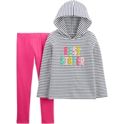 Carter's Little Girls Best Sister Hooded Tee and Leggings 2 pc. Set