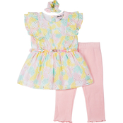 Little Lass Little Girls Capris and Top 2 pc. Set With Accessory