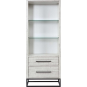 Coast to Coast Accents Canyon Ridge White 2 Drawer Pier Bookcase