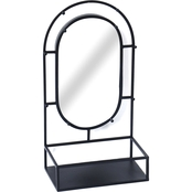Simply Perfect Oval Mirror with Shelf