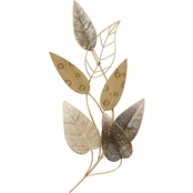 Simply Perfect Metal Leaf Wall Decor