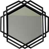 Simply Perfect Metal Hexagon Mirror 15.75 in. diam.