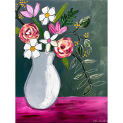 Inkstry Oil Bouquet Canvas Print