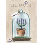 Inkstry Bloom Terrarium Canvas Print