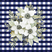 Inkstry Navy Floral I Canvas Print